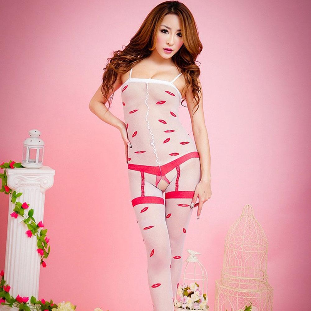 品信 吊带连身丝袜 性感大圆点极度透视 开档情趣内衣(317 白色)
