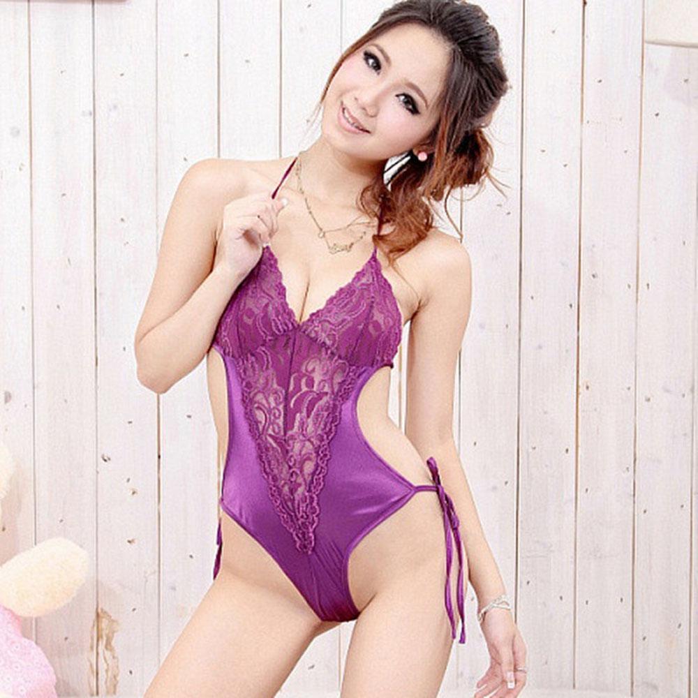 绰资丽影情趣内衣相望套装三点紫色(53045性感)元购情趣用品图片