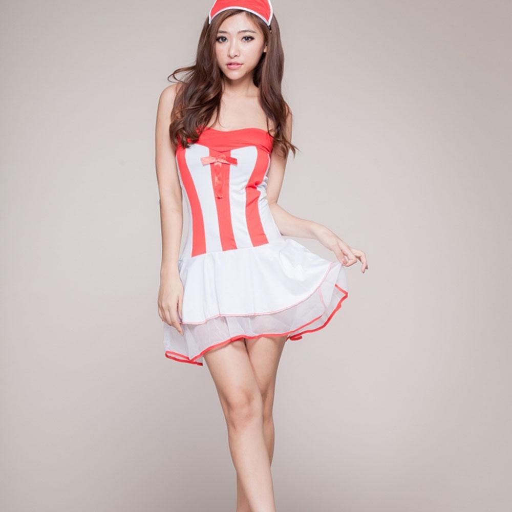黛沫daimo情趣内衣总统装裹胸短裙情趣(护士)套装大酒店白色房图片