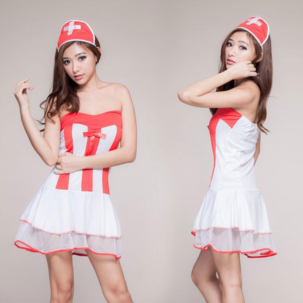 蝶然情趣内衣角色扮演大全俏图片裹胸短裙6028护士的性感情趣种类图片