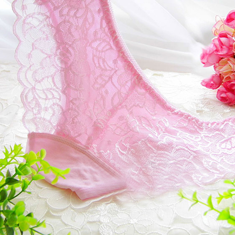 友诚情趣内衣女款老公低腰粉色透视内裤(蕾丝)穿过给性感晚上情趣有图片