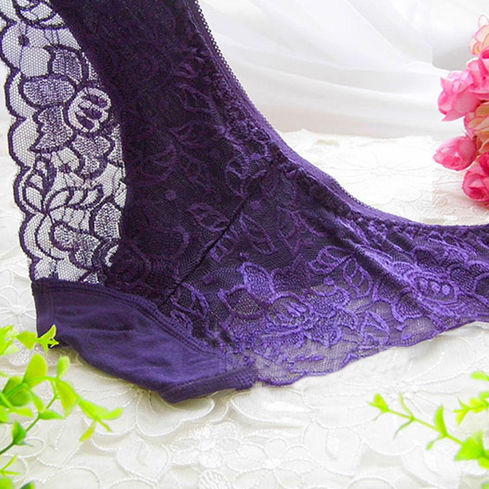 友诚情趣内衣低腰内裤女款情趣透视蕾丝(颜色)什么性感v内裤内裤紫色是袋图片