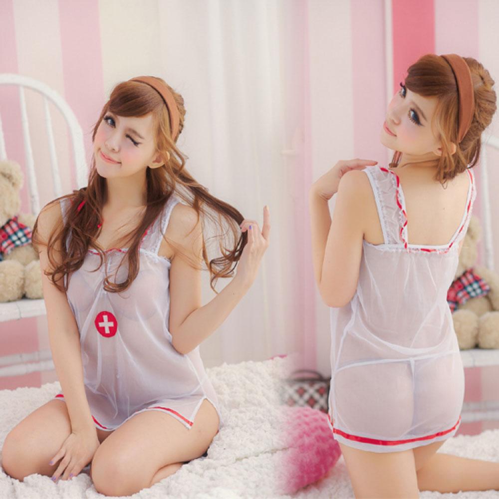 苏拉乐薇情趣内衣制服v护士护士白衣天使真丝装性感情趣图片
