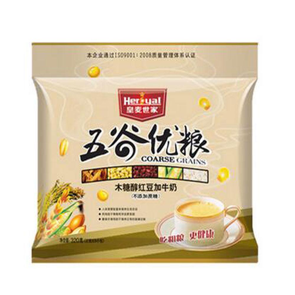 皇麦世家五谷优粮木糖醇红豆牛奶麦片