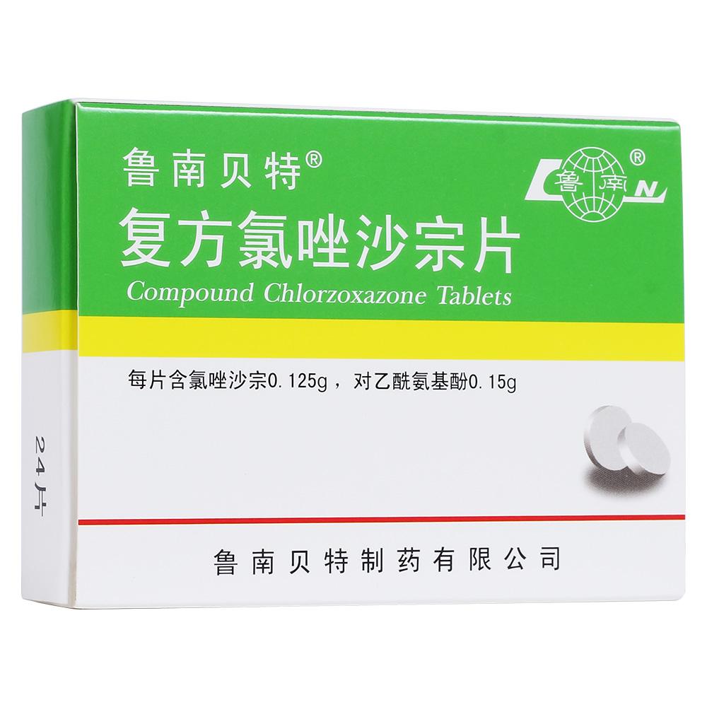 复方氯唑沙宗片 鲁南贝特 本品适用于各种急性,慢性软组织 肌肉,韧带