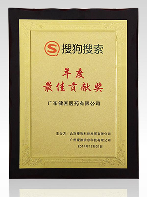搜狗搜索年度最佳贡献奖